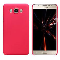 Handyhülle Hülle Kunststoff Tasche Matt M03 für Samsung Galaxy J7 (2016) J710F J710FN Rot