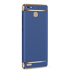 Handyhülle Hülle Luxus Aluminium Metall für Huawei Enjoy 5S Blau
