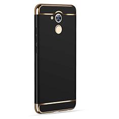 Handyhülle Hülle Luxus Aluminium Metall für Huawei Enjoy 6S Schwarz