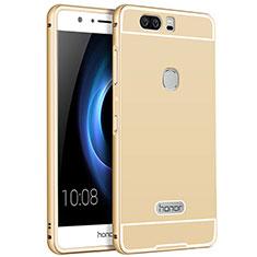 Handyhülle Hülle Luxus Aluminium Metall für Huawei Honor V8 Gold