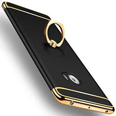 Handyhülle Hülle Luxus Aluminium Metall mit Fingerring Ständer für Xiaomi Mi Note 2 Special Edition Schwarz