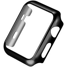 Handyhülle Hülle Luxus Aluminium Metall Rahmen C03 für Apple iWatch 3 42mm Schwarz