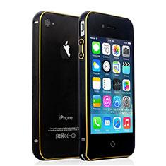 Handyhülle Hülle Luxus Aluminium Metall Rahmen für Apple iPhone 4 Schwarz