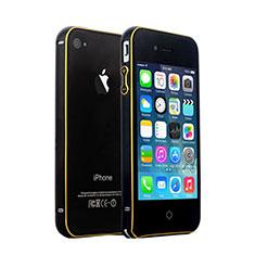 Handyhülle Hülle Luxus Aluminium Metall Rahmen für Apple iPhone 4S Schwarz