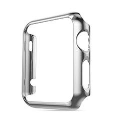 Handyhülle Hülle Luxus Aluminium Metall Rahmen für Apple iWatch 42mm Silber