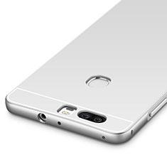 Handyhülle Hülle Luxus Aluminium Metall Rahmen für Huawei Honor V8 Silber