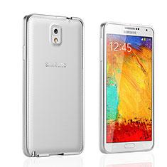 Handyhülle Hülle Luxus Aluminium Metall Rahmen für Samsung Galaxy Note 3 N9000 Silber