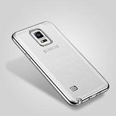 Handyhülle Hülle Luxus Aluminium Metall Rahmen für Samsung Galaxy Note 4 Duos N9100 Dual SIM Silber