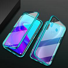 Handyhülle Hülle Luxus Aluminium Metall Rahmen Spiegel 360 Grad Ganzkörper Tasche für Huawei Enjoy 10 Plus Grün