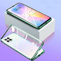 Handyhülle Hülle Luxus Aluminium Metall Rahmen Spiegel 360 Grad Ganzkörper Tasche für Huawei Nova 8 SE 5G Grün