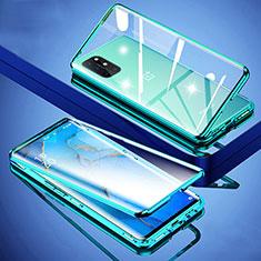 Handyhülle Hülle Luxus Aluminium Metall Rahmen Spiegel 360 Grad Ganzkörper Tasche für OnePlus 8T 5G Grün