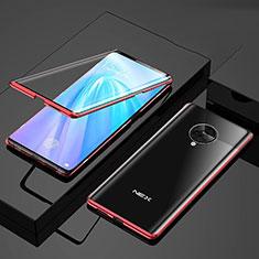 Handyhülle Hülle Luxus Aluminium Metall Rahmen Spiegel 360 Grad Ganzkörper Tasche für Vivo Nex 3 Rot