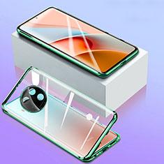 Handyhülle Hülle Luxus Aluminium Metall Rahmen Spiegel 360 Grad Ganzkörper Tasche für Xiaomi Mi 10i 5G Grün
