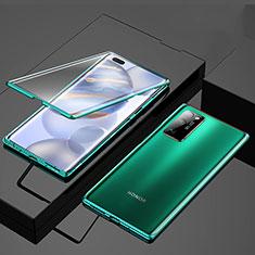 Handyhülle Hülle Luxus Aluminium Metall Rahmen Spiegel 360 Grad Ganzkörper Tasche M01 für Huawei Honor 30 Pro Grün