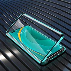 Handyhülle Hülle Luxus Aluminium Metall Rahmen Spiegel 360 Grad Ganzkörper Tasche M04 für Huawei Nova 7 Pro 5G Grün
