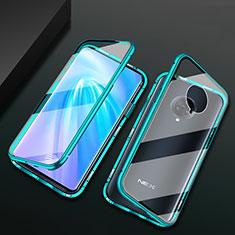 Handyhülle Hülle Luxus Aluminium Metall Rahmen Spiegel 360 Grad Ganzkörper Tasche M10 für Vivo Nex 3 Grün