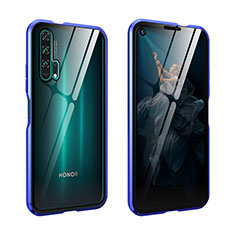 Handyhülle Hülle Luxus Aluminium Metall Rahmen Spiegel 360 Grad Tasche für Huawei Honor 20 Pro Blau