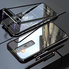 Handyhülle Hülle Luxus Aluminium Metall Rahmen Spiegel 360 Grad Tasche für Huawei Mate 20 Lite Schwarz