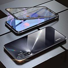 Handyhülle Hülle Luxus Aluminium Metall Rahmen Spiegel 360 Grad Tasche für Huawei Nova 5 Schwarz