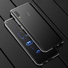 Handyhülle Hülle Luxus Aluminium Metall Rahmen Spiegel 360 Grad Tasche für Huawei P Smart+ Plus Schwarz