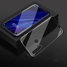 Handyhülle Hülle Luxus Aluminium Metall Rahmen Spiegel 360 Grad Tasche für Huawei P20 Lite (2019) Schwarz