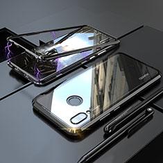 Handyhülle Hülle Luxus Aluminium Metall Rahmen Spiegel 360 Grad Tasche für Huawei P20 Lite Schwarz