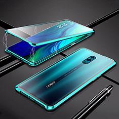 Handyhülle Hülle Luxus Aluminium Metall Rahmen Spiegel 360 Grad Tasche für Oppo K3 Grün