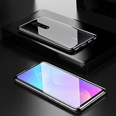 Handyhülle Hülle Luxus Aluminium Metall Rahmen Spiegel 360 Grad Tasche für Xiaomi Mi 9T Pro Schwarz
