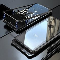 Handyhülle Hülle Luxus Aluminium Metall Rahmen Spiegel 360 Grad Tasche für Xiaomi Mi Mix 3 Schwarz