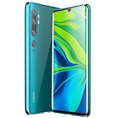 Handyhülle Hülle Luxus Aluminium Metall Rahmen Spiegel 360 Grad Tasche für Xiaomi Mi Note 10 Pro Grün