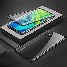 Handyhülle Hülle Luxus Aluminium Metall Rahmen Spiegel 360 Grad Tasche für Xiaomi Mi Note 10 Schwarz