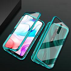Handyhülle Hülle Luxus Aluminium Metall Rahmen Spiegel 360 Grad Tasche für Xiaomi Redmi 8 Grün