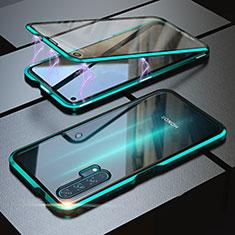 Handyhülle Hülle Luxus Aluminium Metall Rahmen Spiegel 360 Grad Tasche M01 für Huawei Honor 20 Pro Grün