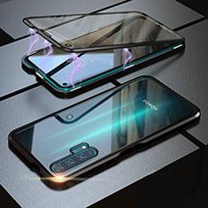 Handyhülle Hülle Luxus Aluminium Metall Rahmen Spiegel 360 Grad Tasche M01 für Huawei Honor 20 Pro Schwarz