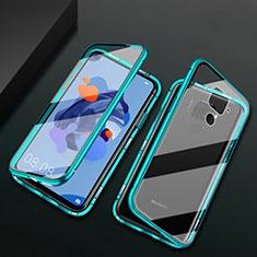 Handyhülle Hülle Luxus Aluminium Metall Rahmen Spiegel 360 Grad Tasche M01 für Huawei Nova 5z Grün