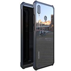 Handyhülle Hülle Luxus Aluminium Metall Rahmen Spiegel 360 Grad Tasche M01 für Huawei P20 Lite Schwarz