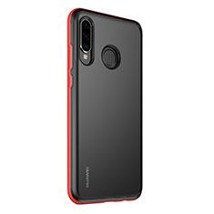 Handyhülle Hülle Luxus Aluminium Metall Rahmen Spiegel 360 Grad Tasche M01 für Huawei P30 Lite Rot