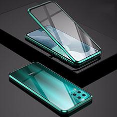 Handyhülle Hülle Luxus Aluminium Metall Rahmen Spiegel 360 Grad Tasche M01 für Huawei P40 Lite Grün