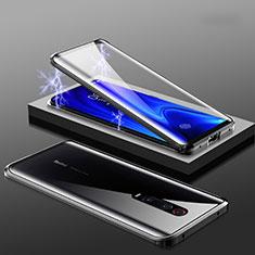 Handyhülle Hülle Luxus Aluminium Metall Rahmen Spiegel 360 Grad Tasche M01 für Xiaomi Redmi K20 Schwarz