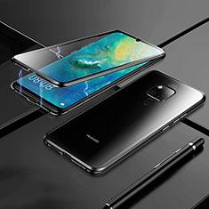 Handyhülle Hülle Luxus Aluminium Metall Rahmen Spiegel 360 Grad Tasche M02 für Huawei Mate 20 Schwarz
