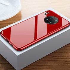 Handyhülle Hülle Luxus Aluminium Metall Rahmen Spiegel 360 Grad Tasche M02 für Huawei Mate 30E Pro 5G Rot