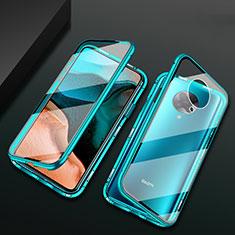 Handyhülle Hülle Luxus Aluminium Metall Rahmen Spiegel 360 Grad Tasche M02 für Xiaomi Poco F2 Pro Grün