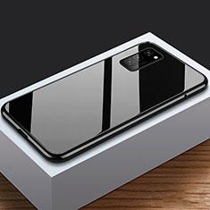 Handyhülle Hülle Luxus Aluminium Metall Rahmen Spiegel 360 Grad Tasche M03 für Huawei Honor View 30 5G Schwarz