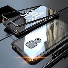 Handyhülle Hülle Luxus Aluminium Metall Rahmen Spiegel 360 Grad Tasche M03 für Huawei Mate 20 Schwarz