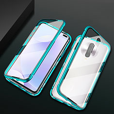 Handyhülle Hülle Luxus Aluminium Metall Rahmen Spiegel 360 Grad Tasche M03 für Xiaomi Redmi K30 5G Grün