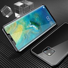 Handyhülle Hülle Luxus Aluminium Metall Rahmen Spiegel 360 Grad Tasche M04 für Huawei Mate 20 Pro Schwarz