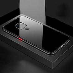 Handyhülle Hülle Luxus Aluminium Metall Rahmen Spiegel 360 Grad Tasche M04 für Huawei Mate 20 Schwarz
