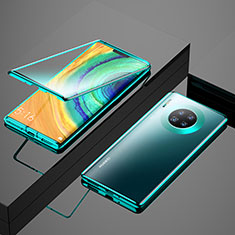 Handyhülle Hülle Luxus Aluminium Metall Rahmen Spiegel 360 Grad Tasche M04 für Huawei Mate 30 5G Grün