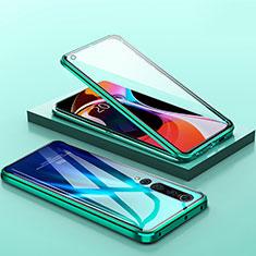 Handyhülle Hülle Luxus Aluminium Metall Rahmen Spiegel 360 Grad Tasche M04 für Xiaomi Mi 10 Grün