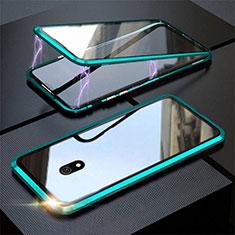 Handyhülle Hülle Luxus Aluminium Metall Rahmen Spiegel 360 Grad Tasche M04 für Xiaomi Redmi 8A Grün